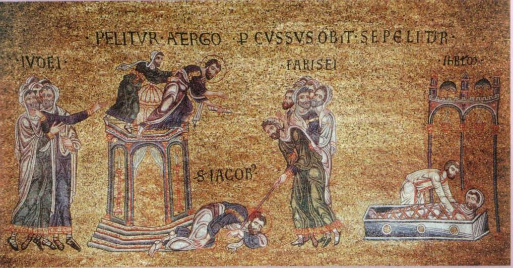 James death 13th c mosaic