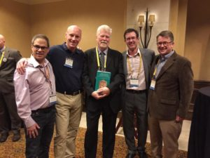 Kloppenborg and the FEstschrift editors. Photo by Sarah Rollens.